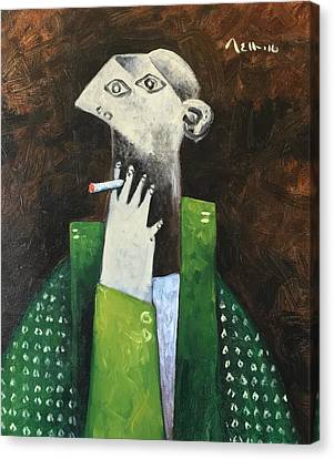Vitae The Smoker Canvas Print by Mark M Mellon