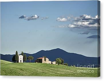 Alberi Canvas Print - Vitaleta Chapel In Val D'orcia, Tuscany by Luigi Morbidelli