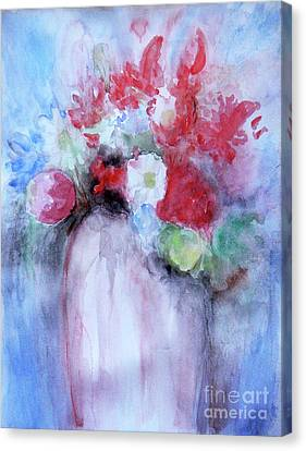Canvas Print featuring the painting Vitality Still Life by Jasna Dragun