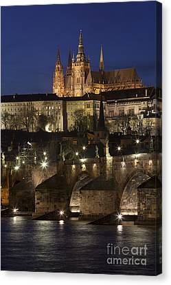 Vitava River, Prague Canvas Print by Bernd Rohrschneider