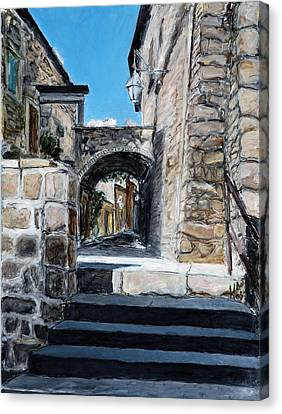 Viterbo Archway Canvas Print by Joan De Bot