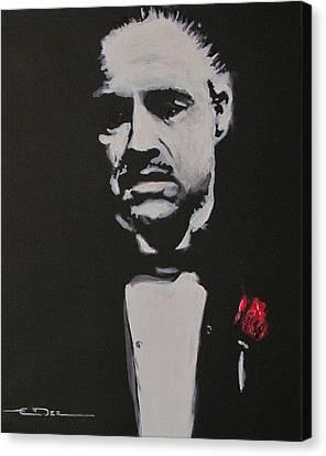Vito Andolini Corleone Canvas Print by Eric Dee