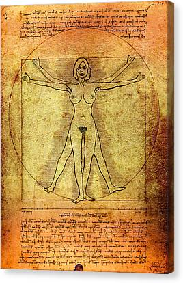 Vitruvian Woman Canvas Print by Daniel Hagerman