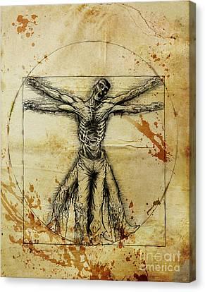 Vitruvian Zombie Canvas Print by David Lange