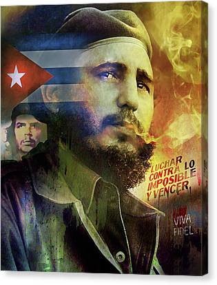 Viva Fidel Canvas Print by Mal Bray