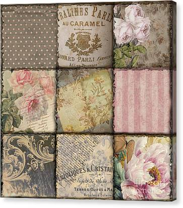 Viva La France II Patchwork Canvas Print by Mindy Sommers