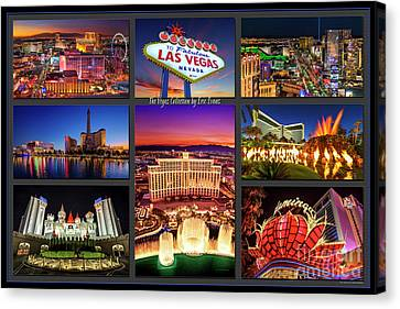 Viva Las Vegas Collection Canvas Print by Aloha Art