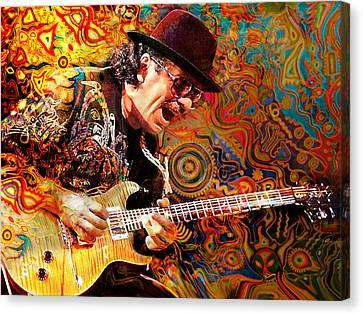 Santana Canvas Print - Viva Santana by Mal Bray