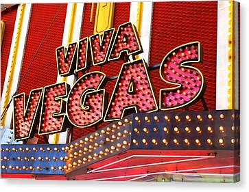 Viva Vegas Canvas Print by Art Block Collections