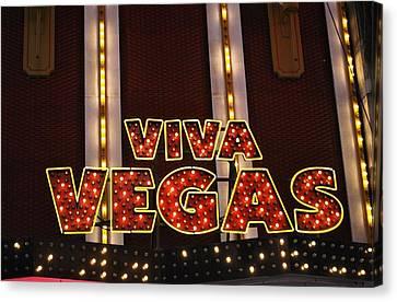 Viva Vegas Canvas Print by Tysha Rodriguez