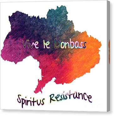 Vive Le Donbass Canvas Print