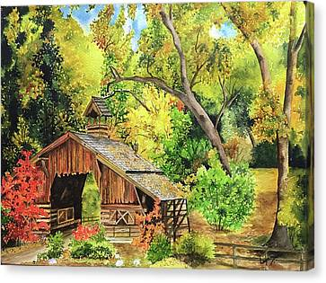 Vivid Autumn Canvas Print by Lupamudra Dutta