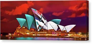 Famous Buildings Canvas Print - Vivid Nights by Az Jackson