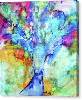 Vivid Tree Canvas Print by Maja Smid