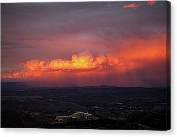 Canvas Print featuring the photograph Vivid Verde Valley Sunset by Ron Chilston