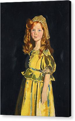 Vivien St George Canvas Print by William Orpen