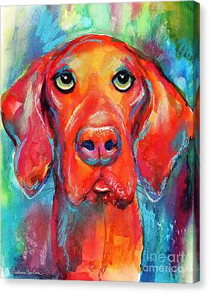 Vizsla Dog Portrait Canvas Print by Svetlana Novikova