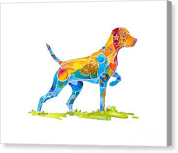 Vizsla On Point Canvas Print by Jo Lynch