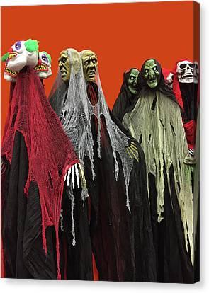 Vjs-skulls Party Canvas Print by Marilu Windvand