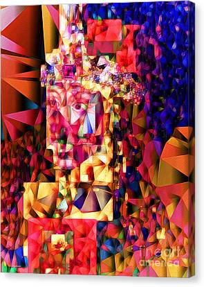 Canvas Print featuring the photograph Vlad IIi The Impaler In Abstract Cubism 20170415 by Wingsdomain Art and Photography