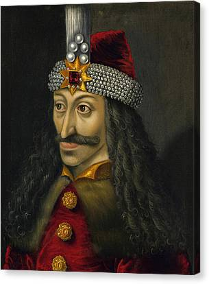 Romania Canvas Print - Vlad The Impaler Portrait  by War Is Hell Store