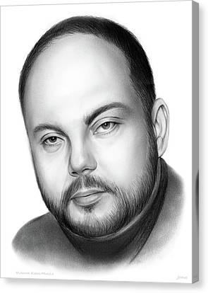 Vladimir Kara-murza  Canvas Print by Greg Joens