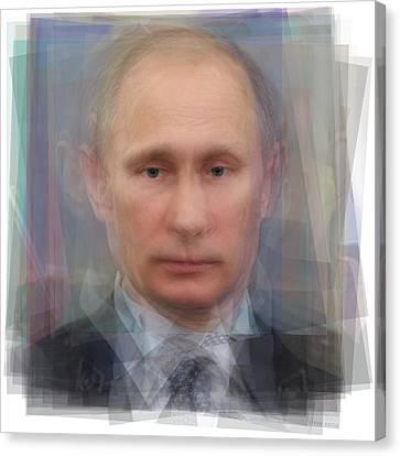 Vladimir Putin Portrait Canvas Print