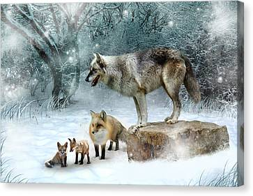 Cubs Canvas Print - Vladimir Vanessa And The Vixens  by Julie L Hoddinott