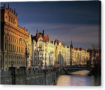 Vltava River Czech Republic Canvas Print by F S