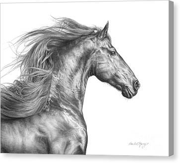 Friesian Horse Canvas Print - Vogue by Dee Dee Murry