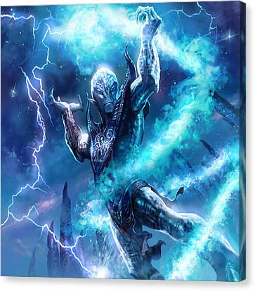 Voidman Sorcerer Canvas Print by Ryan Barger