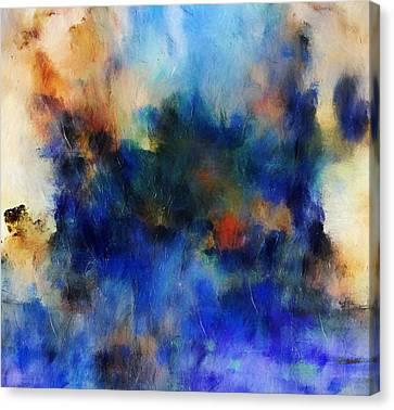 Volcanic Eruption Abstract Canvas Print by Georgiana Romanovna