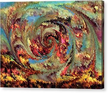 Volcanic Eruption Canvas Print by Rafi Talby