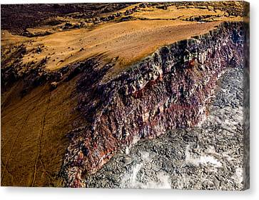 Canvas Print featuring the photograph Volcanic Ridge II by M G Whittingham