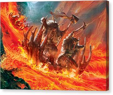 Volcanic Rush Canvas Print by Ryan Barger