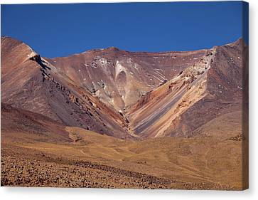 Volcano Crater In Siloli Desert Canvas Print