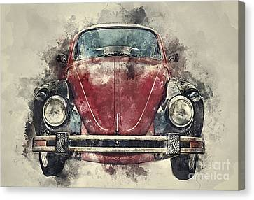Volkswagen Beetle Canvas Print