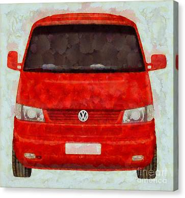 Volkswagon Pop Art Canvas Print