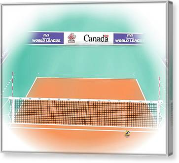 Basketball Collection Canvas Print - Volleyball Court by Darren Cannell