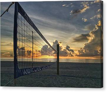 Volleyball Sunrise Canvas Print