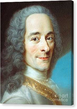 Voltaire Canvas Print by Pg Reproductions
