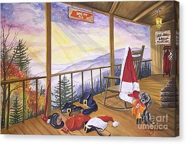 Volunteer Santa Canvas Print