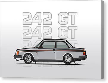 Volvo 242 Gt 200 Series Coupe Canvas Print by Monkey Crisis On Mars