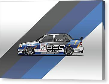 Volvo 850 Saloon Twr Btcc Racing Super Touring Car Canvas Print by Monkey Crisis On Mars