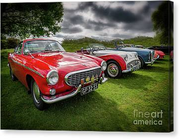 Grill Canvas Print - Volvo P1800 Coupe  by Adrian Evans