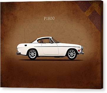 Vintage Car Canvas Print - Volvo P1800 by Mark Rogan