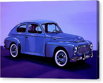 Old Canvas Print - Volvo Pv 544 1958 Mixed Media by Paul Meijering