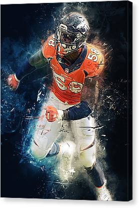 Von Miller Canvas Print by Afterdarkness