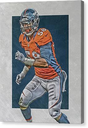 Von Miller Denver Broncos Art 2 Canvas Print