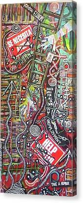 Voo Doo Economy Canvas Print by Jay Lonewolf